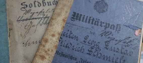 Militärpass des 2. Nassauischen Infanterie-Regiments Nr. 88 für Georg Schmiele